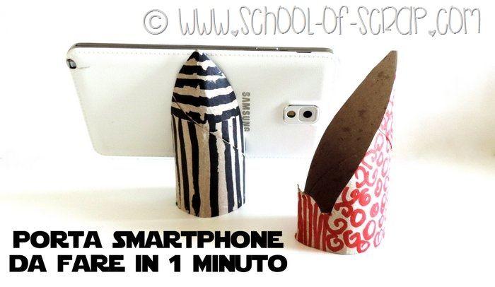 Riciclo creativo: come fare lo stand per smartphone con un ...