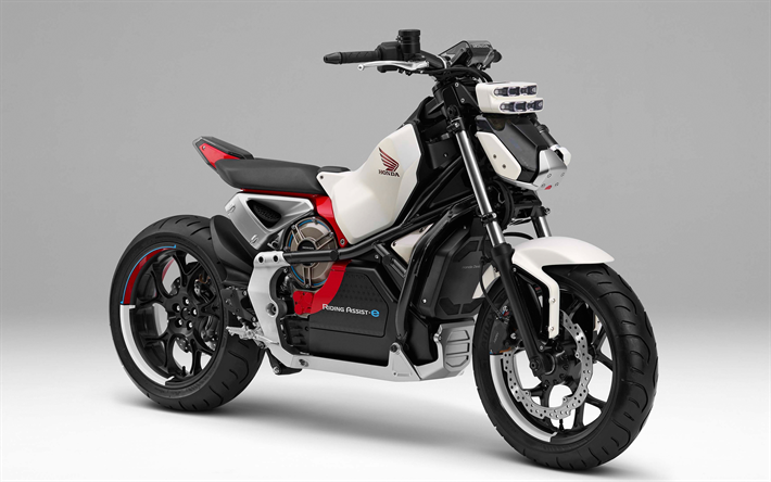 Download Wallpapers Honda Riding Assist E Concept 2018 Electric