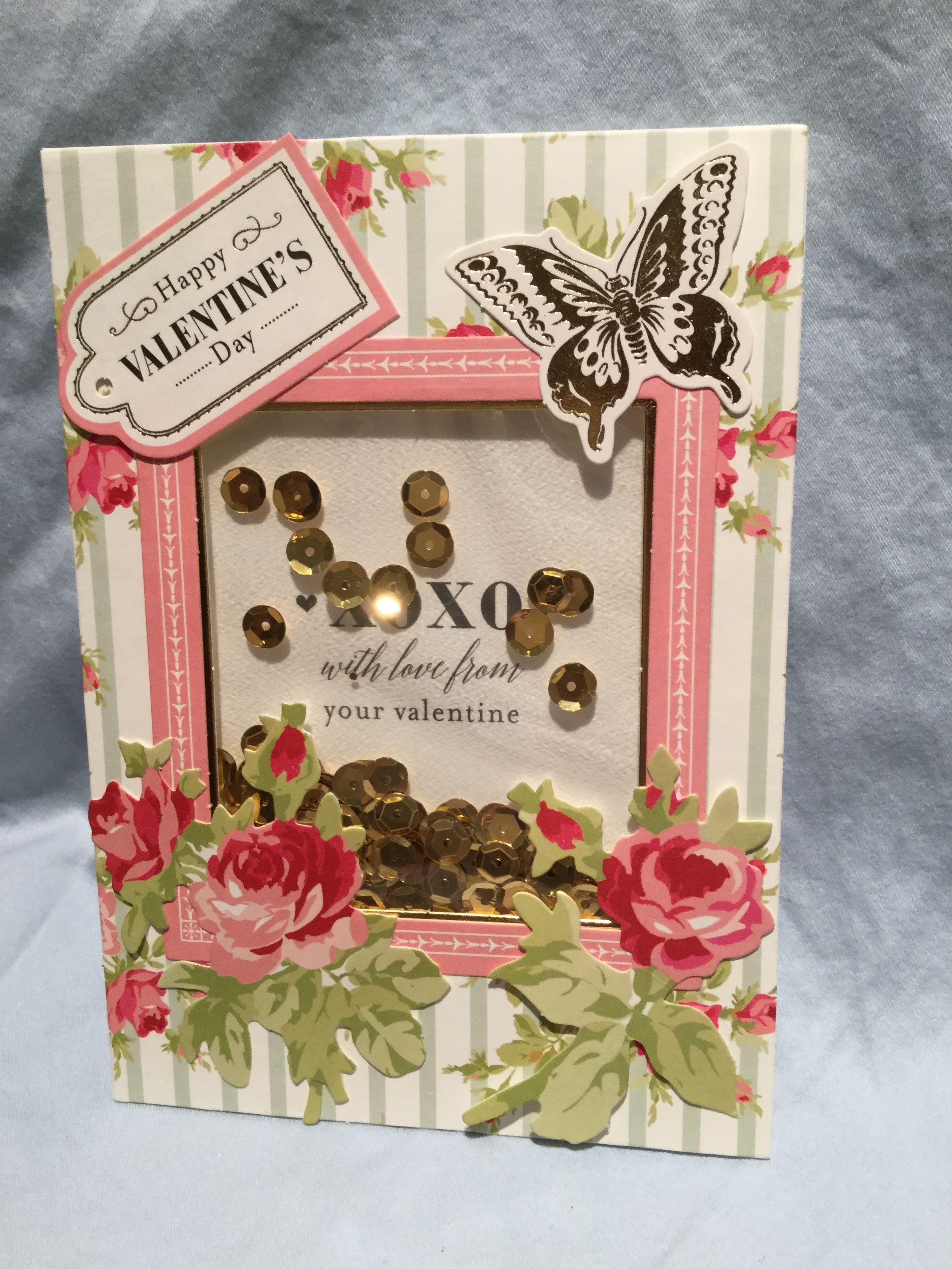 anna griffin valentine shaker card kit  valentine day