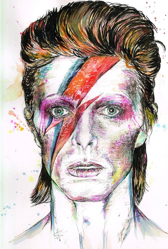 Pin On David Bowie Tribute Art