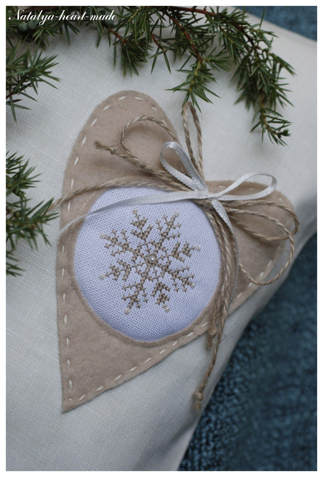 heartmade: Подушки-сніжинки