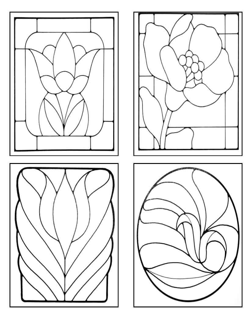 Patterns for Stained Glass floral