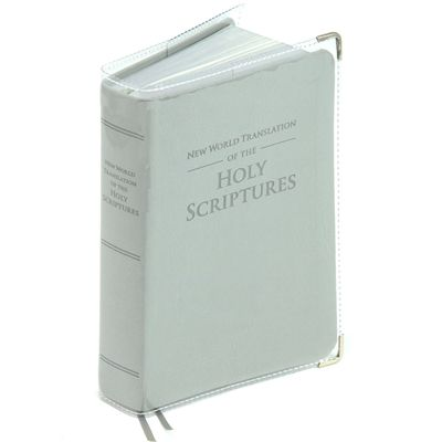 for REGULAR Bible - Clear vinyl SLIP-ON COVER for New World
