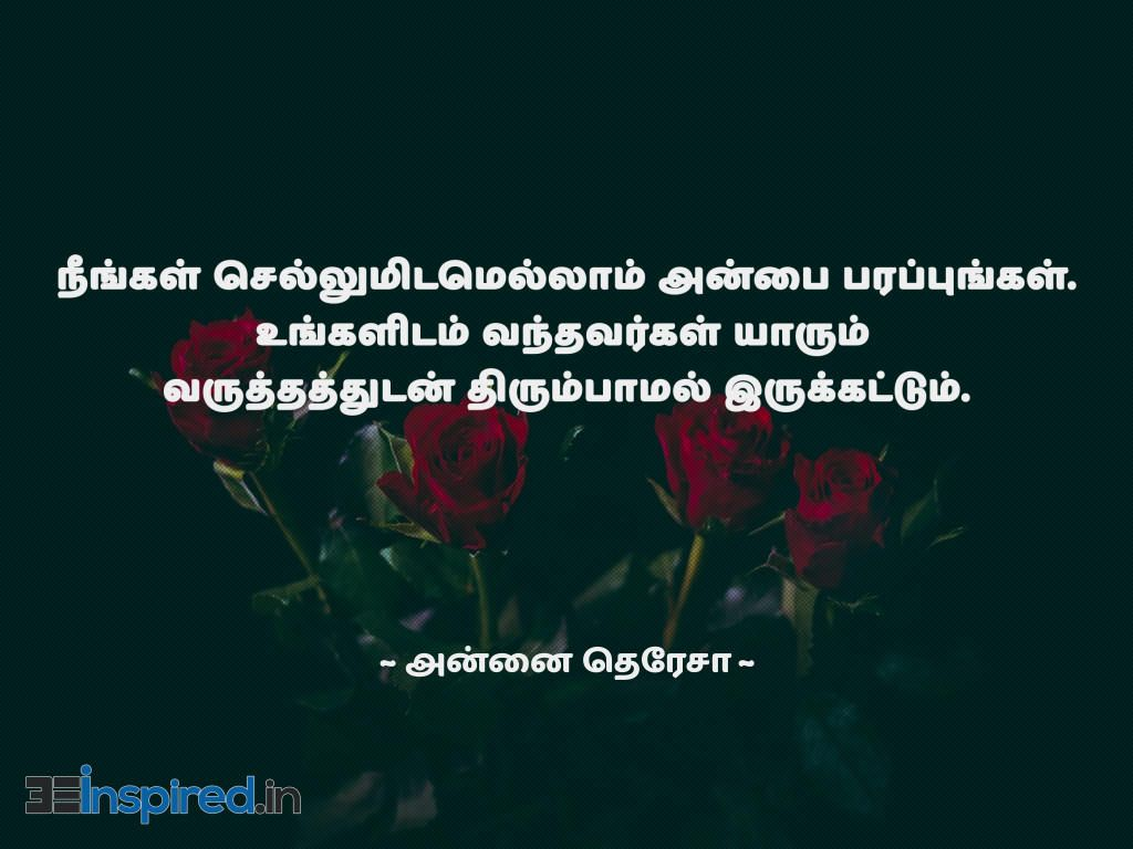 Tamil Quotes Of Mother Theresa About Love