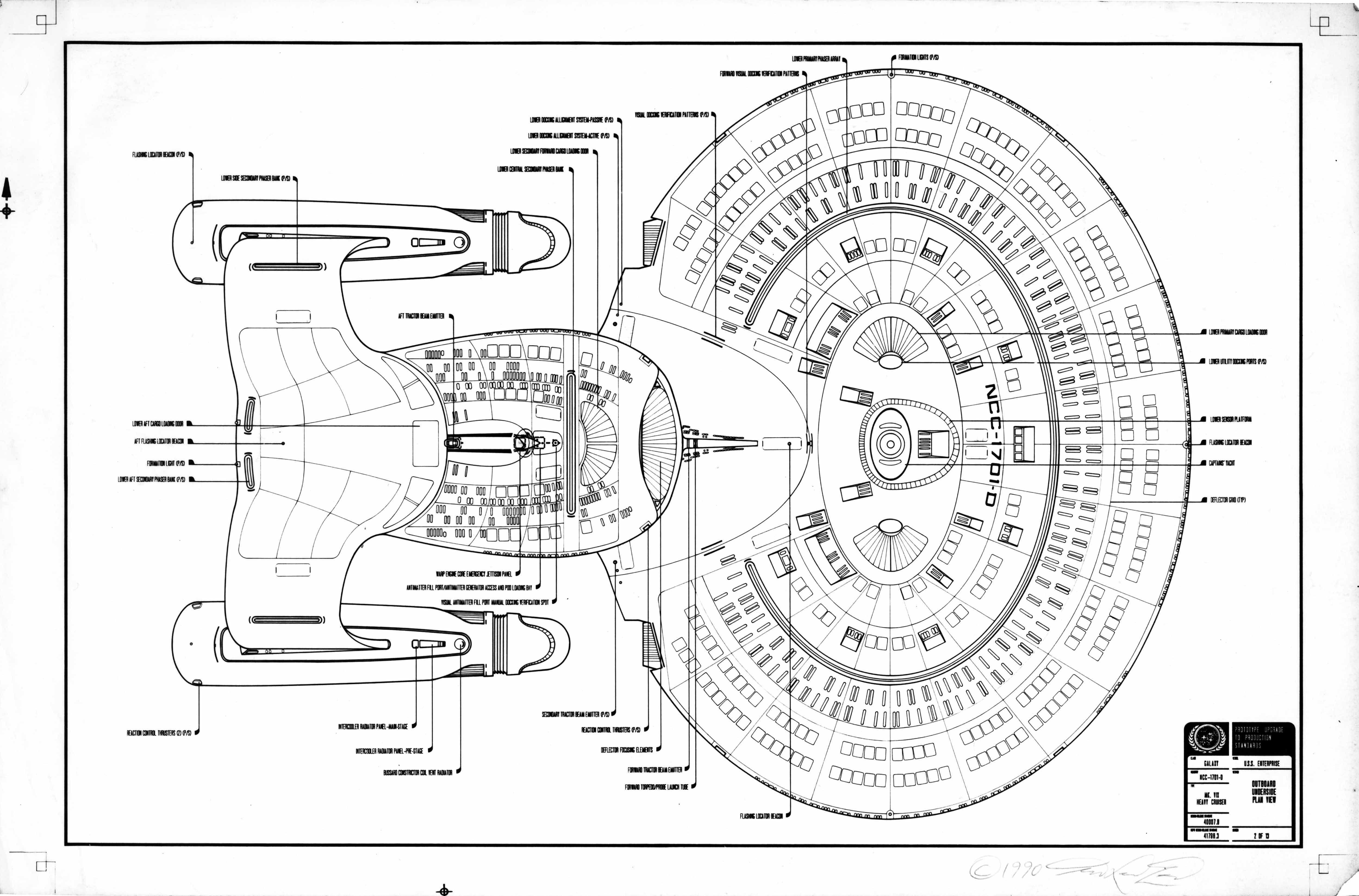 Uss enterprise ncc 1701 d galaxy class saucer separation r flickr - Schematic Ventral View Of U S S Enterprise Ncc 1701 D