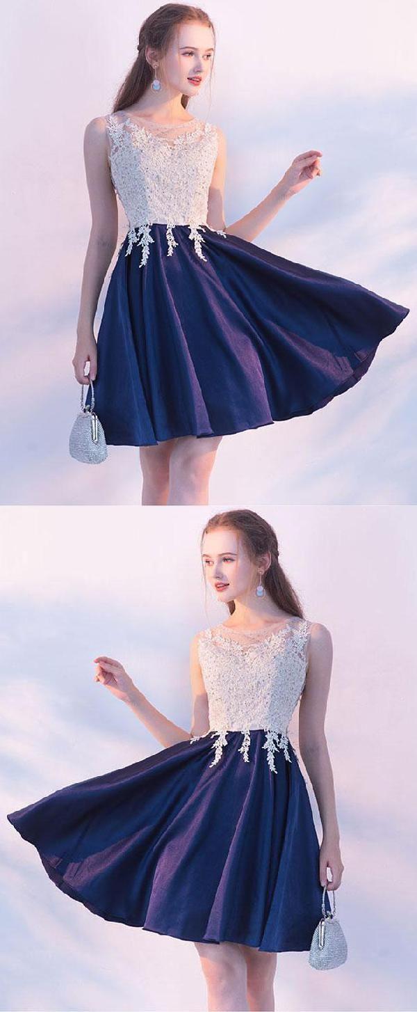 Prom dresses blue prom dresses short lace prom dresses navy prom