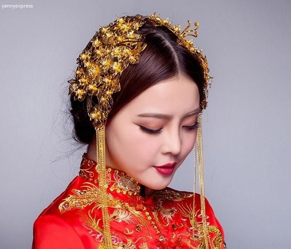 Chinese Wedding Double Hairpieces for Kwa