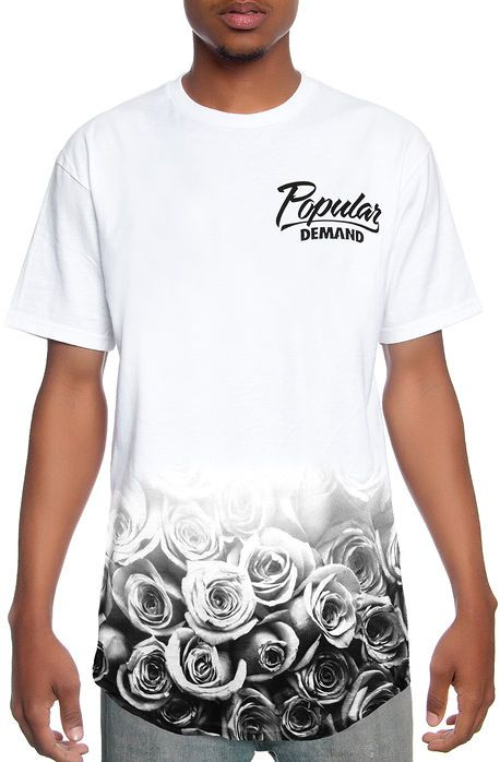 Popular Demand Tee Rose Fade Scoop White ea9eff8de7b