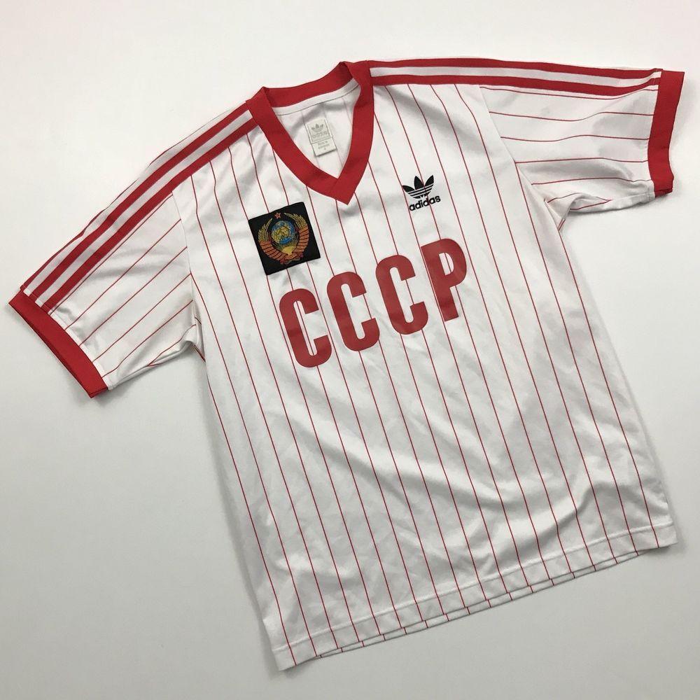8180c9321bb VTG ADIDAS SOVIET UNION CCCP USSR RUSSIA SOCCER JERSEY FOOTBALL SHIRT  OLYMPICS S | eBay