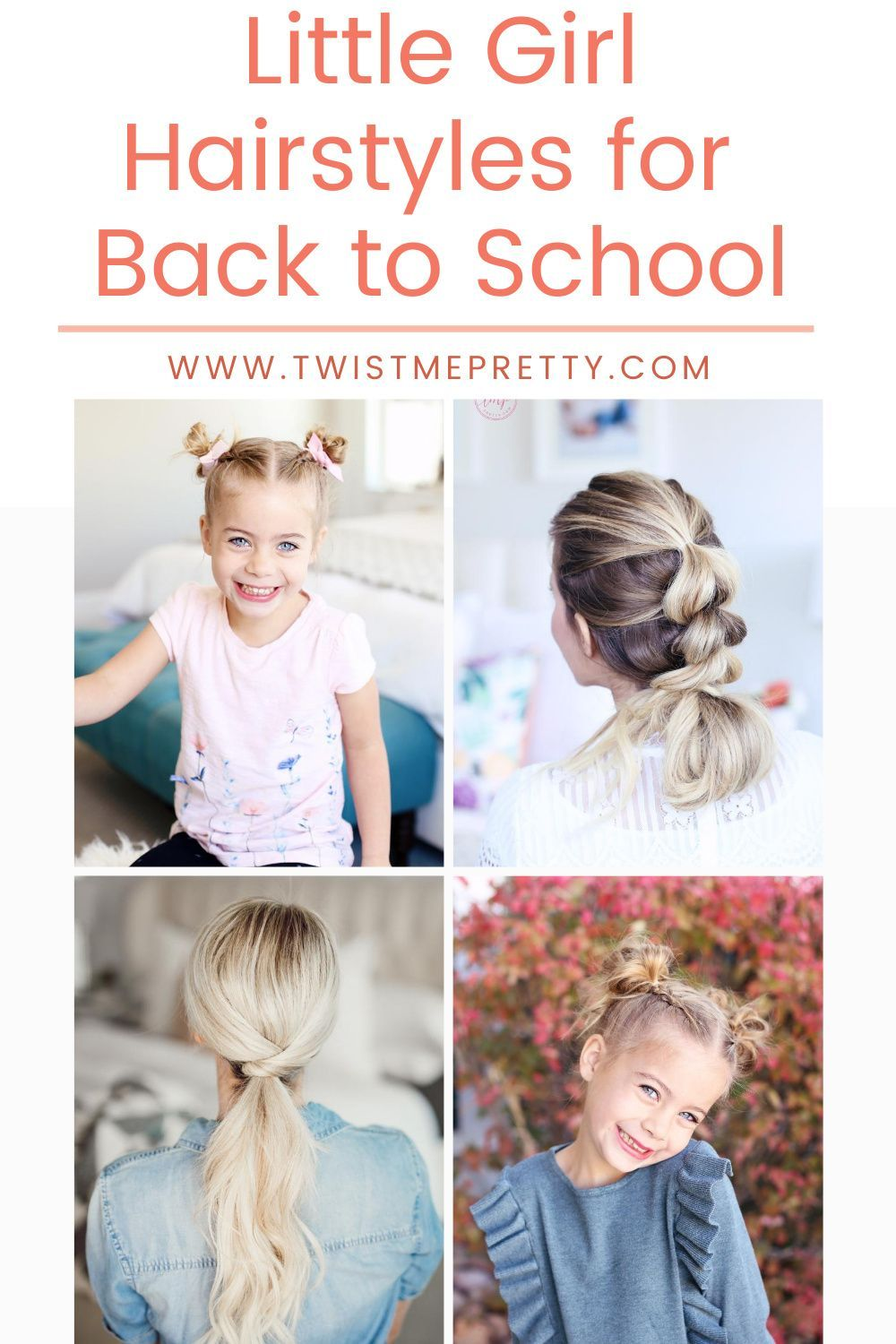 Little Girl Hairstyles for Back to School - Twist Me Pretty in 2020 | Girl  hairstyles, Little girl hairstyles, Hair styles