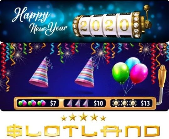 Slotland casino newsletter bonus codes. New Year week bonuses