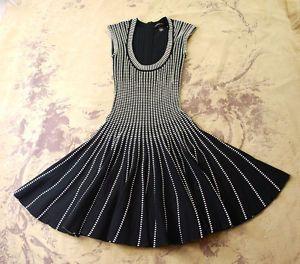 f9de43e0489758 #Victoria's #Secret Black White Ribbed #Scoop #Neck #Sweater Swing Pin Up