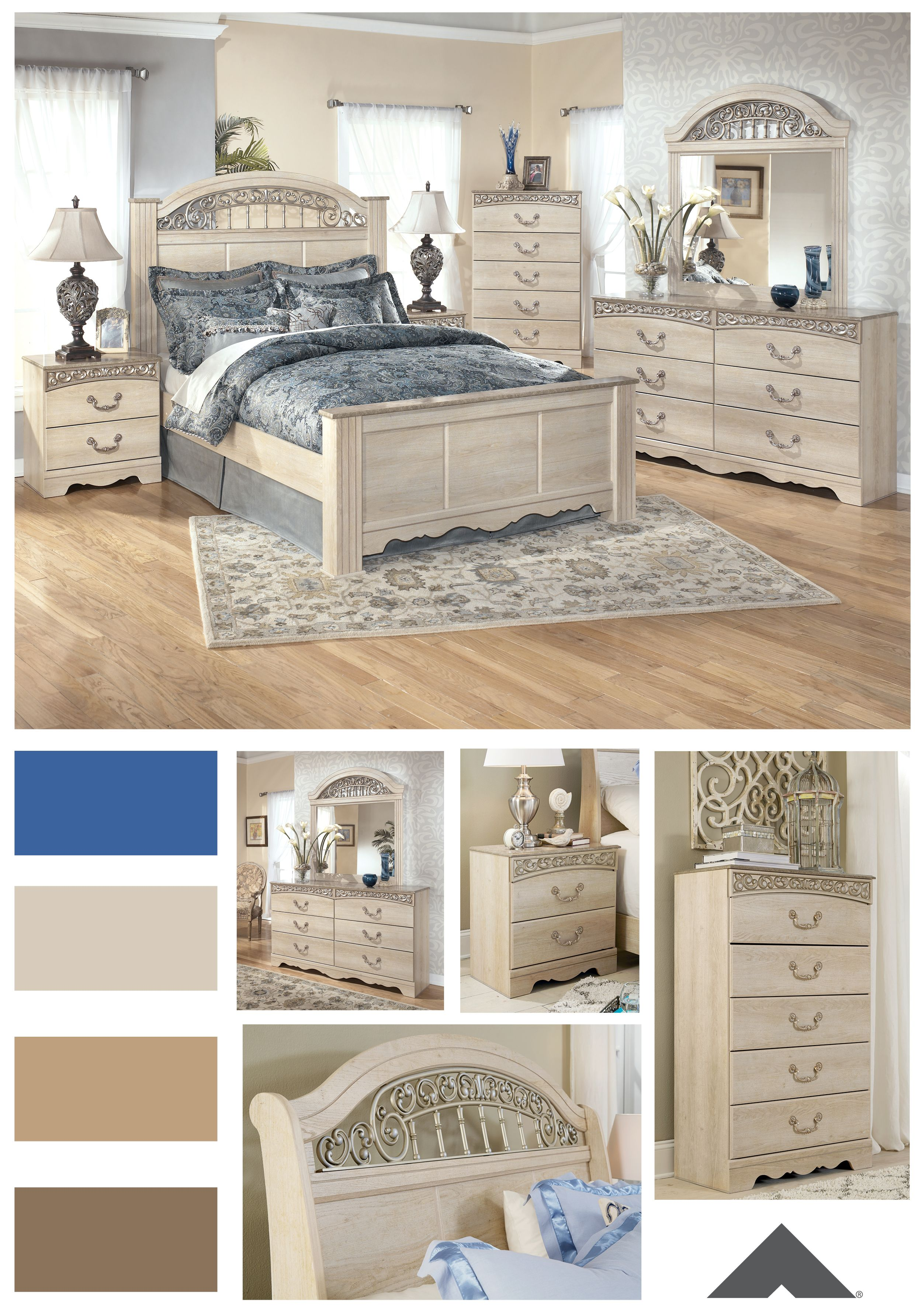 Catalina Antique White Traditional Bedroom Set By Ashley Furniture