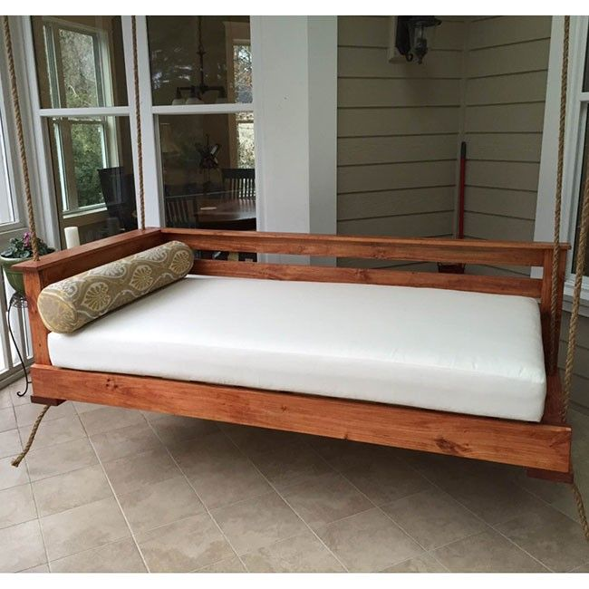 Lowcountry Swing Beds The Sullivan S Island Daybed Swing Porch Swing Bed Porch Swing Bed Swing