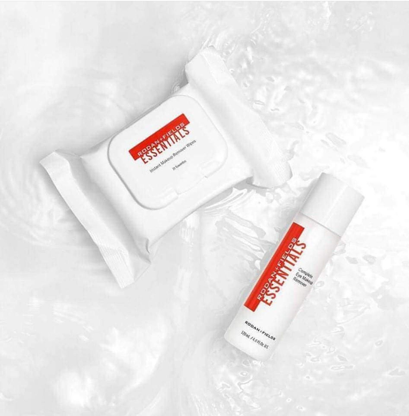 Rodan + Fields Makeup wipes and Makeup remover. No heavy