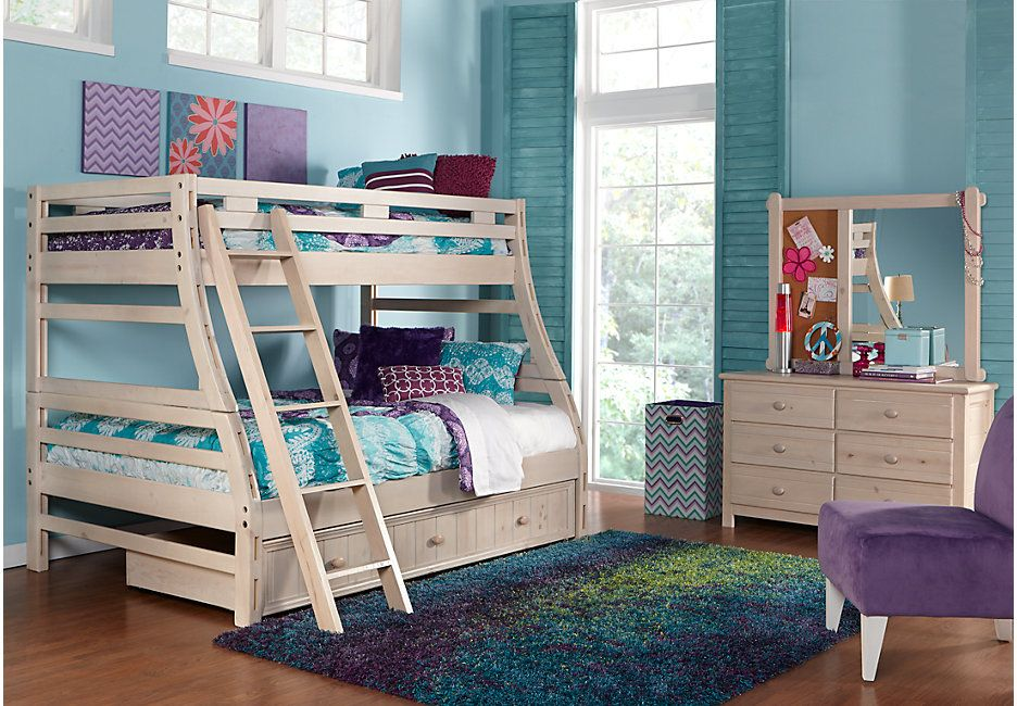 Creekside Stone Wash Twin Full Bunk Bed Bunk Loft Beds Kids Bunk Beds Bunk Beds Bedroom Furniture Stores