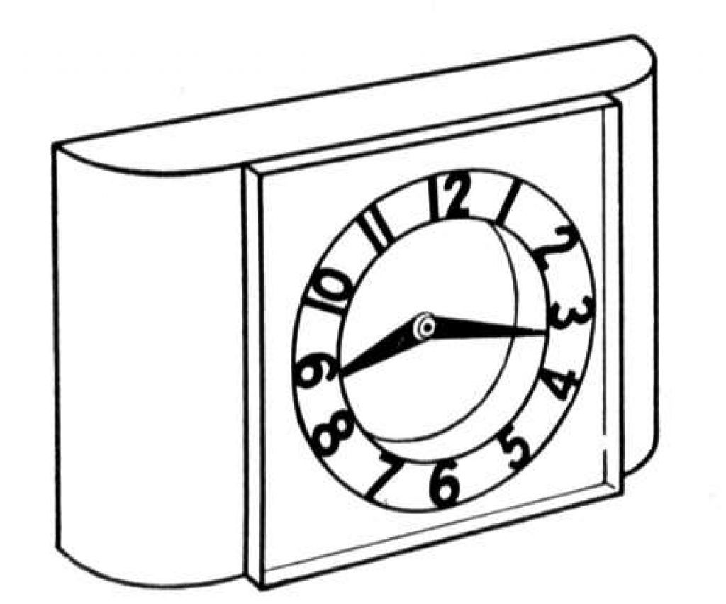 Free Printable Clock Coloring Pages For Kids Clock Vintage
