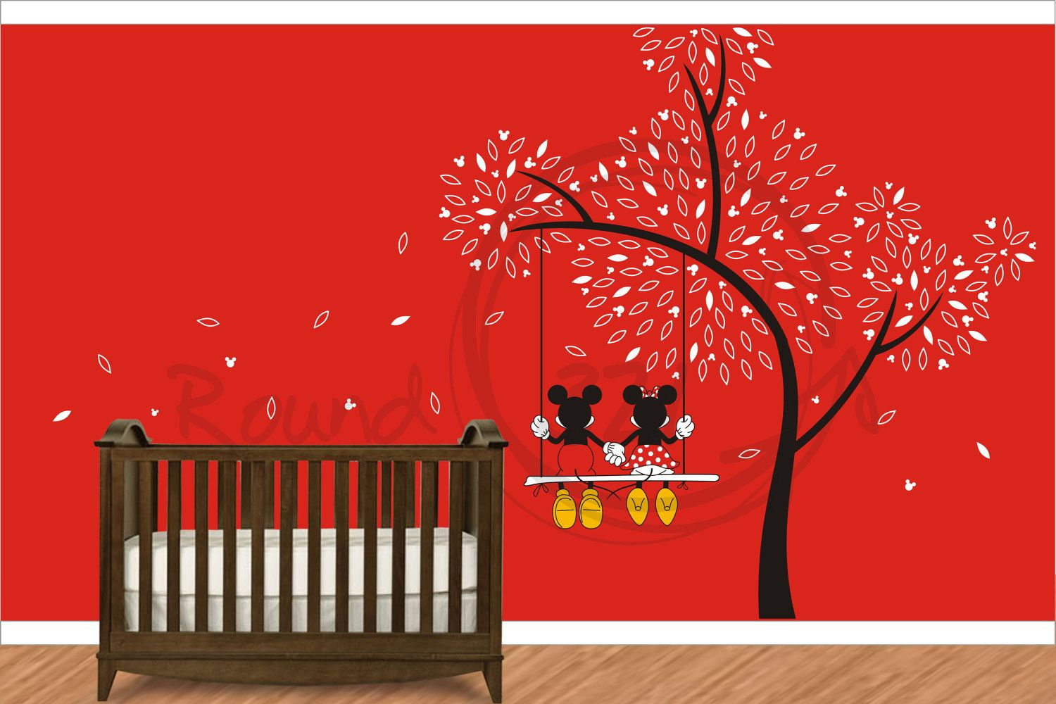 Mickey Mouse   Minnie Mouse Wall Decal   Wall Vinyl For Childrenu0027s And  Infantsu0027 Playroom