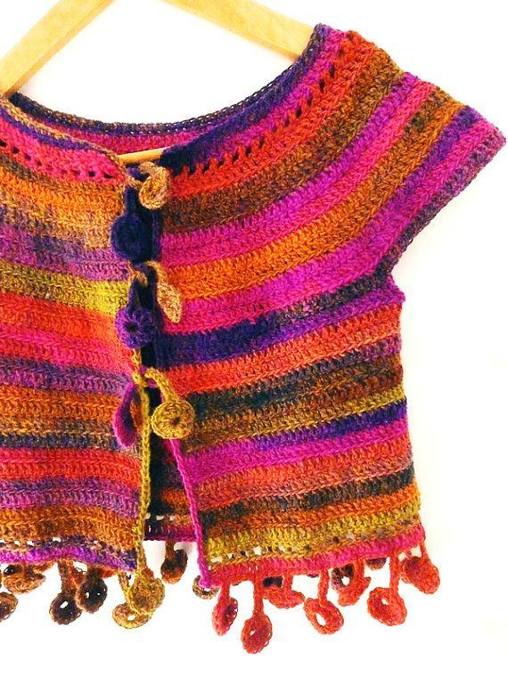 Dancing poppies cardigan - Crochet PATTERN for ladies cardigan size ...