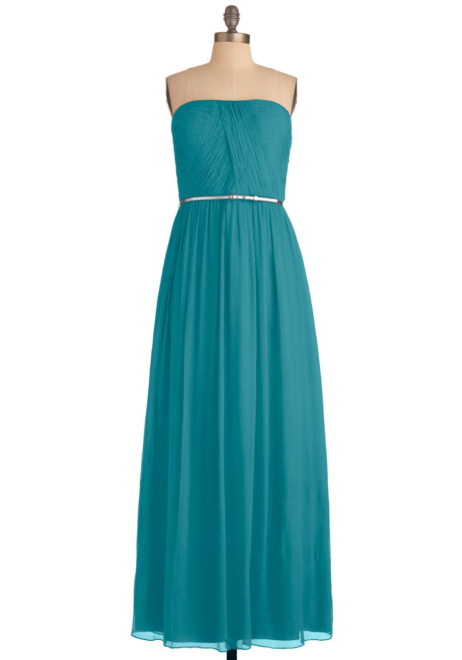 Lush with beauty dress in garden vintage inspired turquoise and