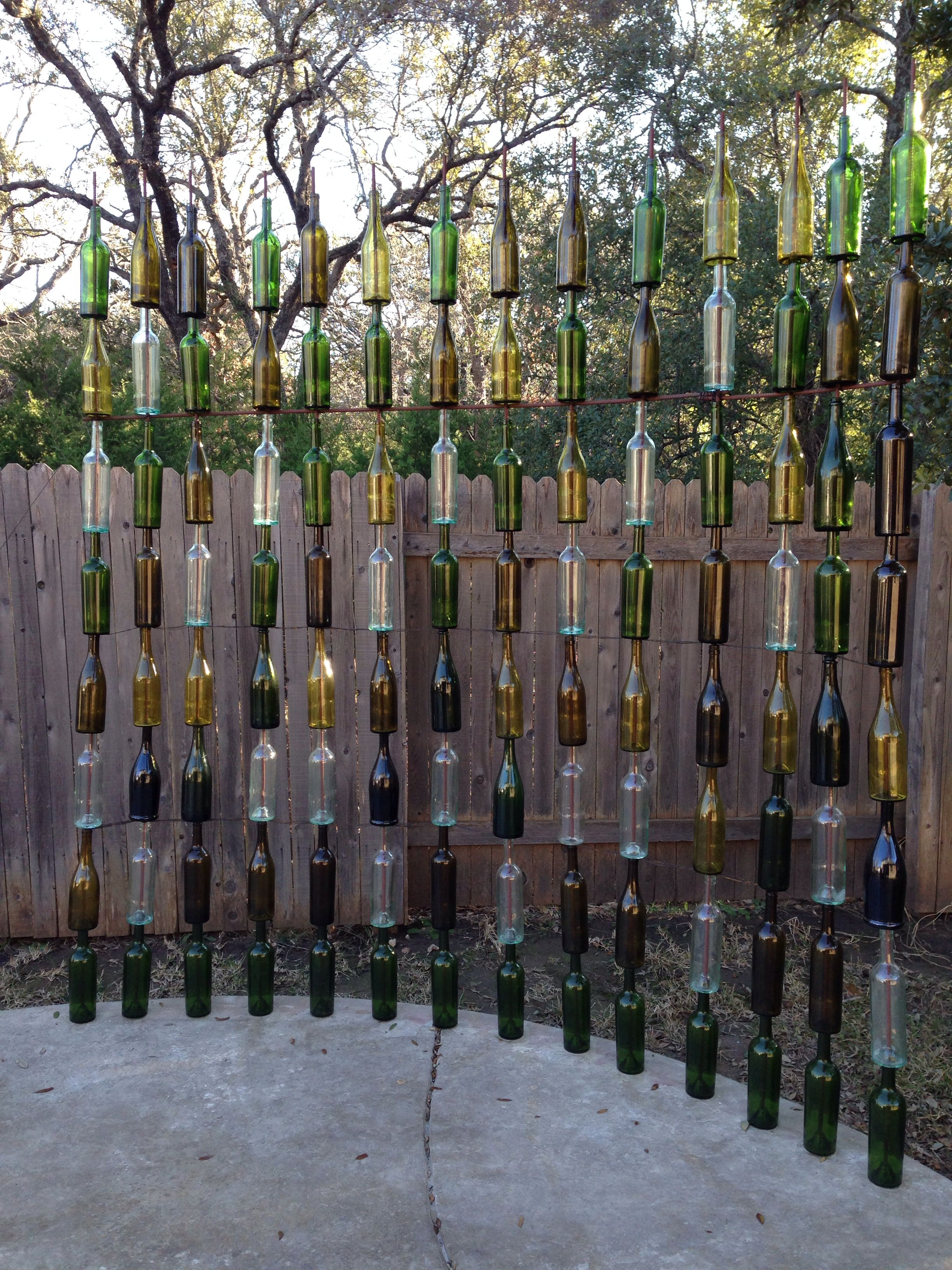 Wine bottle crafts outdoor - So Proud Of The Wine Bottle Fence We Made