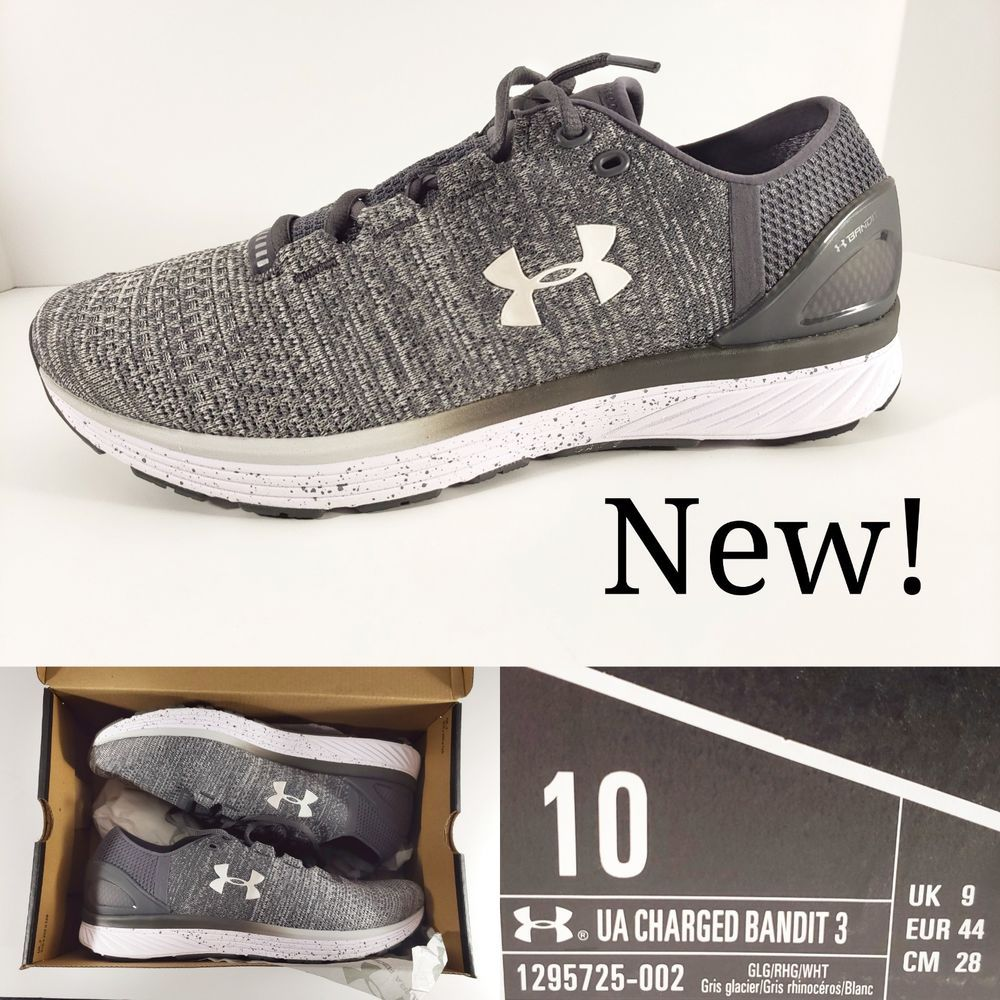 3a2d10c7 New! - Under Armour Charged Bandit 3 Grey Mens Running Shoes ...