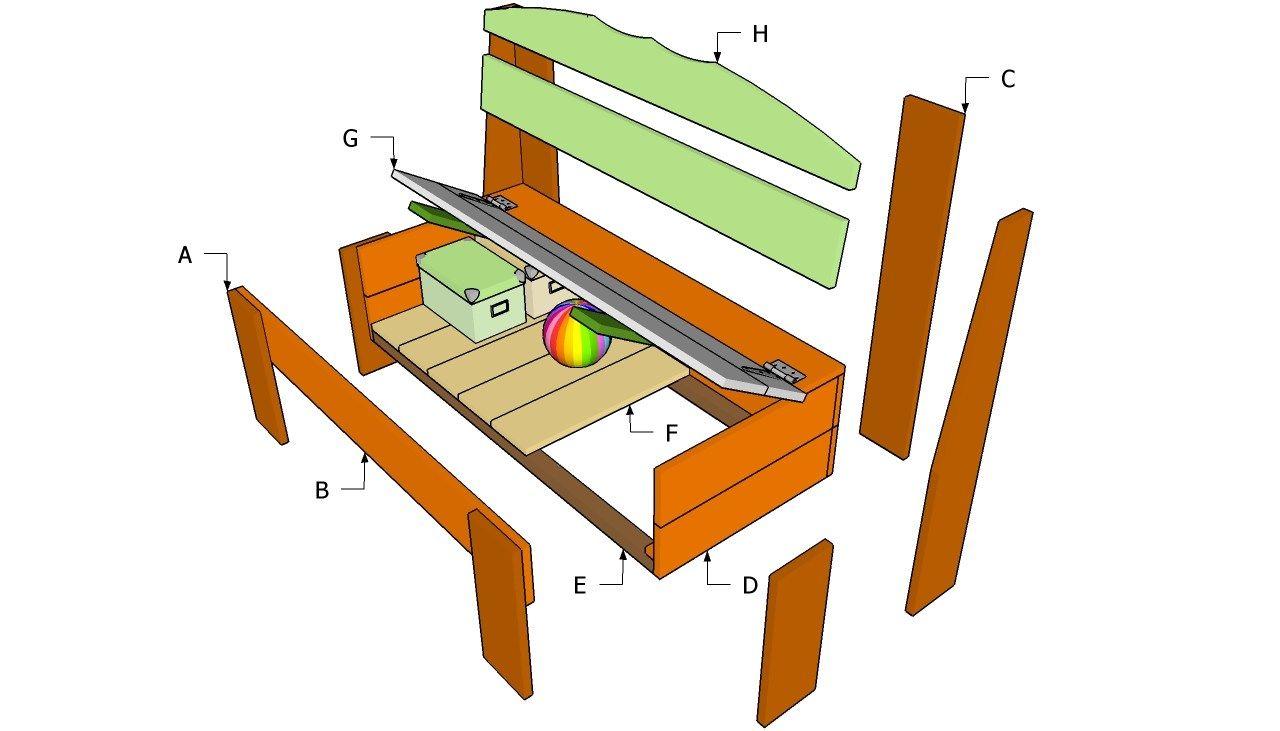 Build diy how to make timber storage bench seat pdf plans
