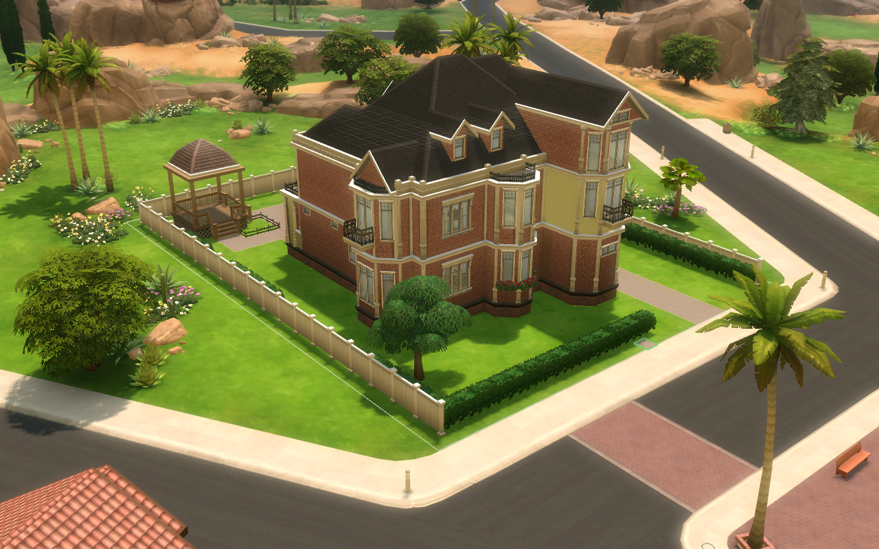 AHS murder house in Sims 4