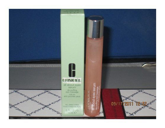 $58 - CLINIQUE ALL ABOUT EYES SERUM DE-PUFFING EYE MASSAGE ROLL ON .5OZ #puffinesstreatments #clinique