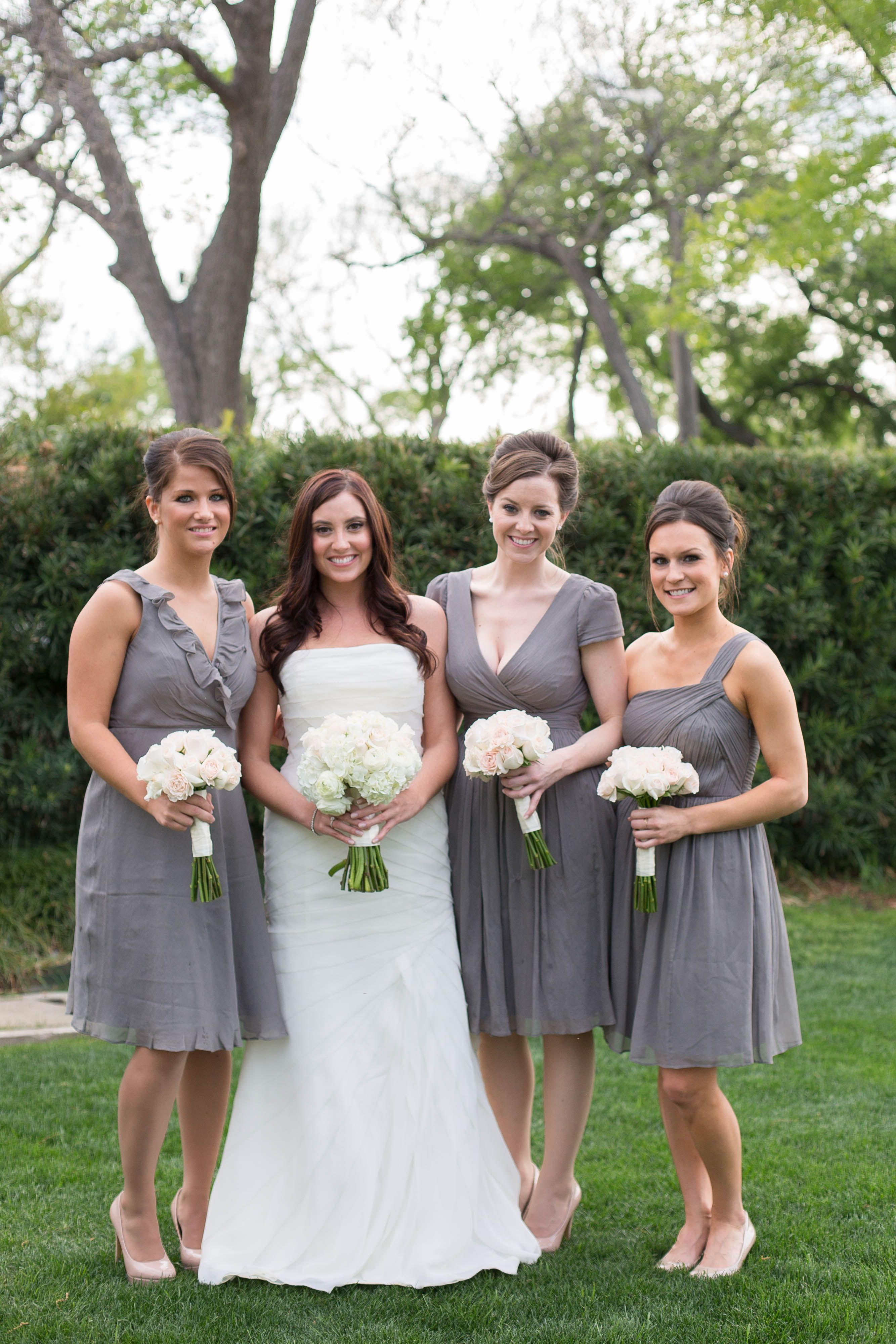 Middle gray dress thats the one we are talking about sam j crew chiffon bridesmaid dresses wedding and bridal inspiration ombrellifo Images