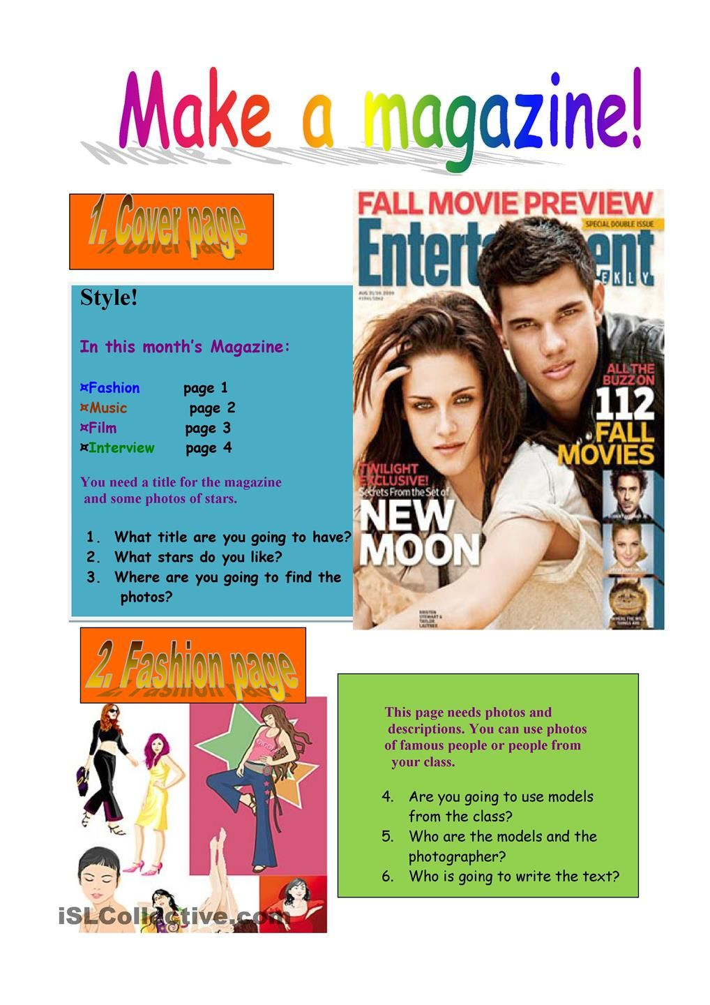 Make a magazine! | ELD Writing | Pinterest | Worksheets, Printable ...