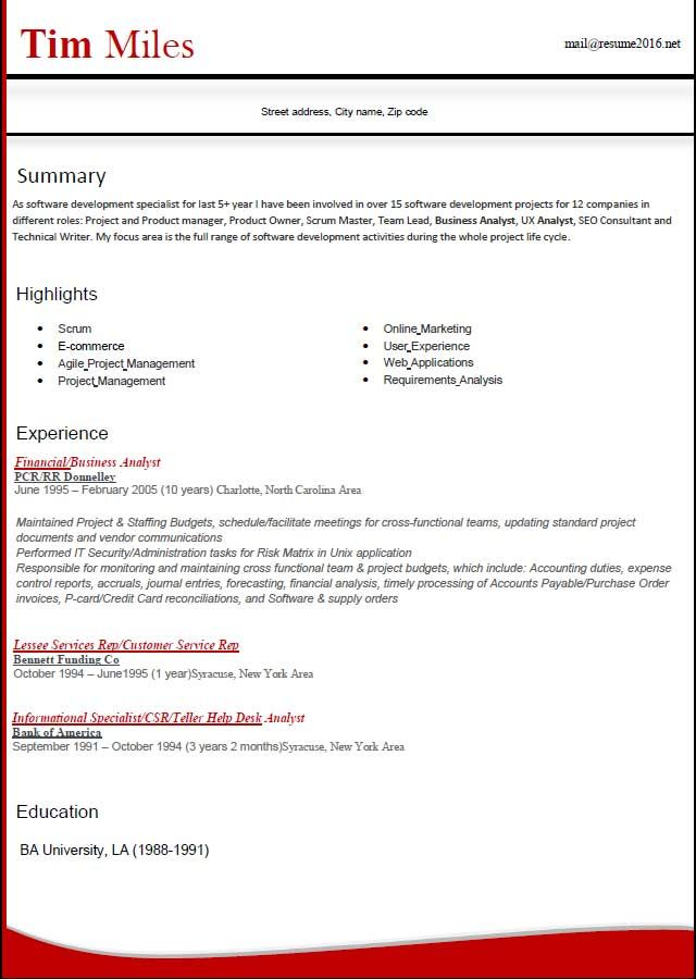 Resume Format Free Download Word Templates Latest How Choose