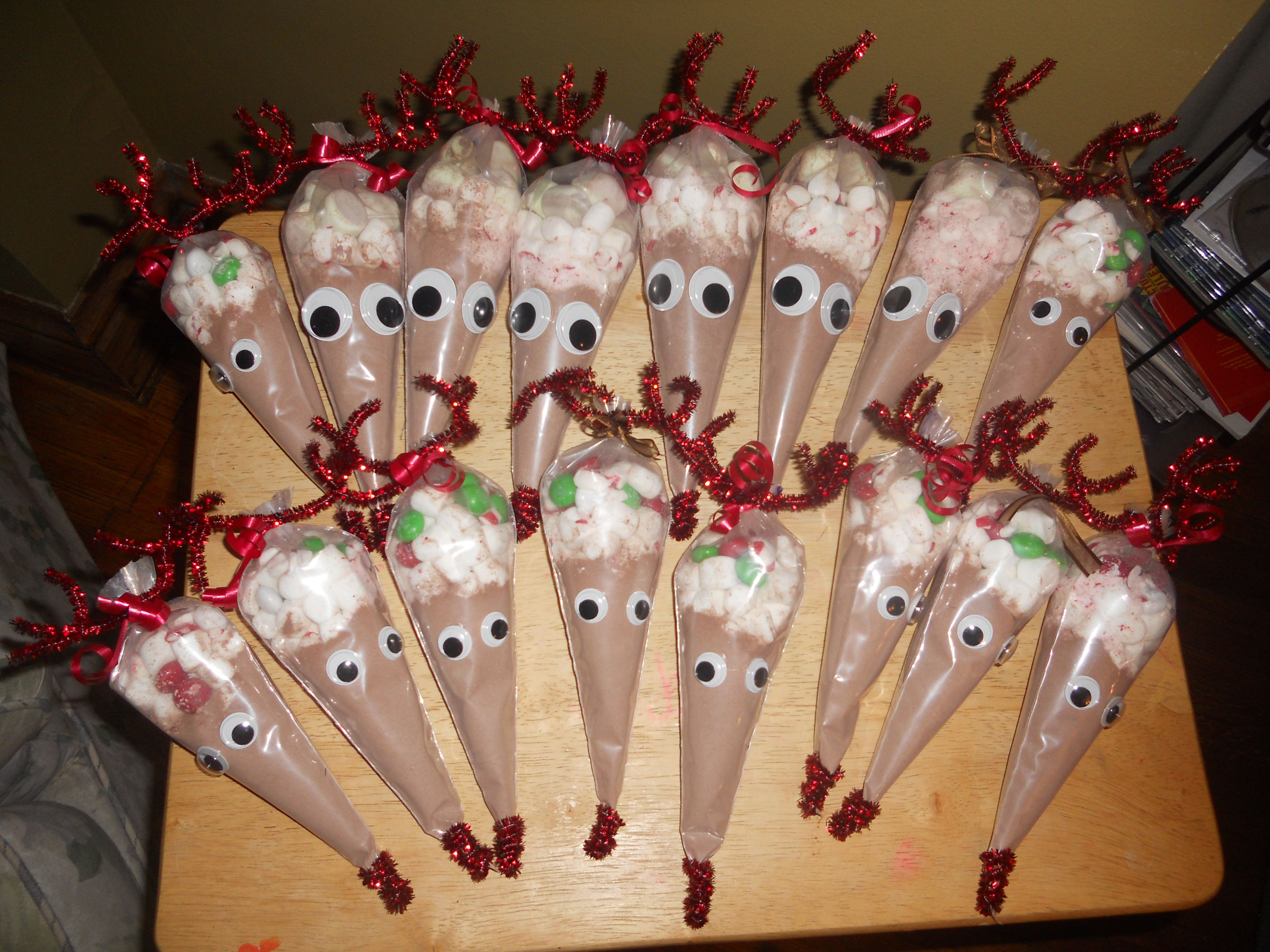 Kids Christmas Craft Gift Ideas Part - 18: Rudolph Hot Chocolate Treats.... Inexpensive Gifts... Just Wanted To  Repost! Everyone Loved This, And It Was Such A Fun Project For The  Grandkids Au2026