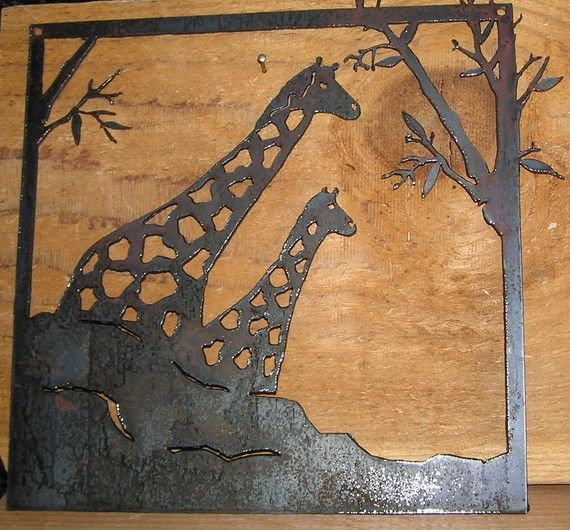 Items similar to More Giraffes-Metal Wall Art on Etsy & Hey I found this really awesome Etsy listing at https://www.etsy ...