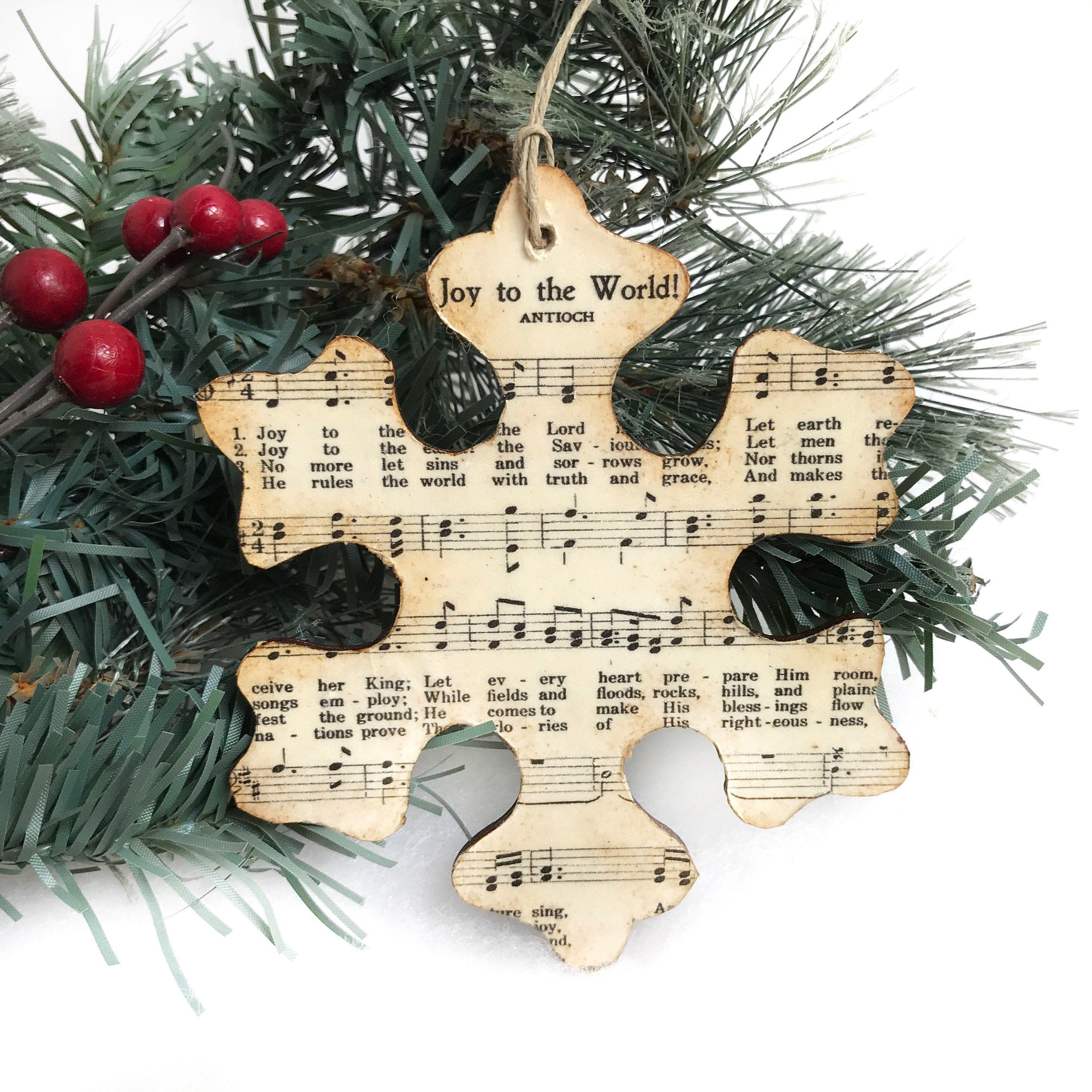 Unique Snowflake Ornaments Christmas Music Ornaments Christmas Sheet Music Ornaments Rustic Ornamen Music Ornaments Sheet Music Ornaments Sheet Music Crafts