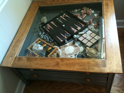 Coffee Table Square Gl Top Display