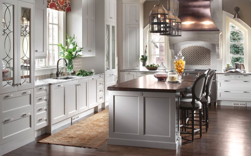 Metal Accents Add An Inviting Rustic Touch To A White Kitchen Fair Interior Design Kitchens 2014 Design Inspiration