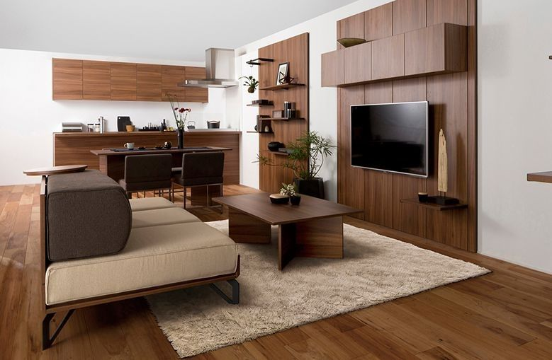 ペニンシュラキッチンのあるldk空間の写真 インテリア インテリア 家具 リビング 20畳