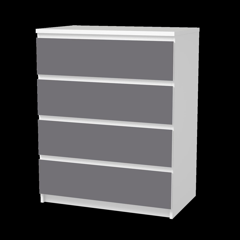 möbelfolie pantone grau 2 (malm 4 schubladen) | ikea malm