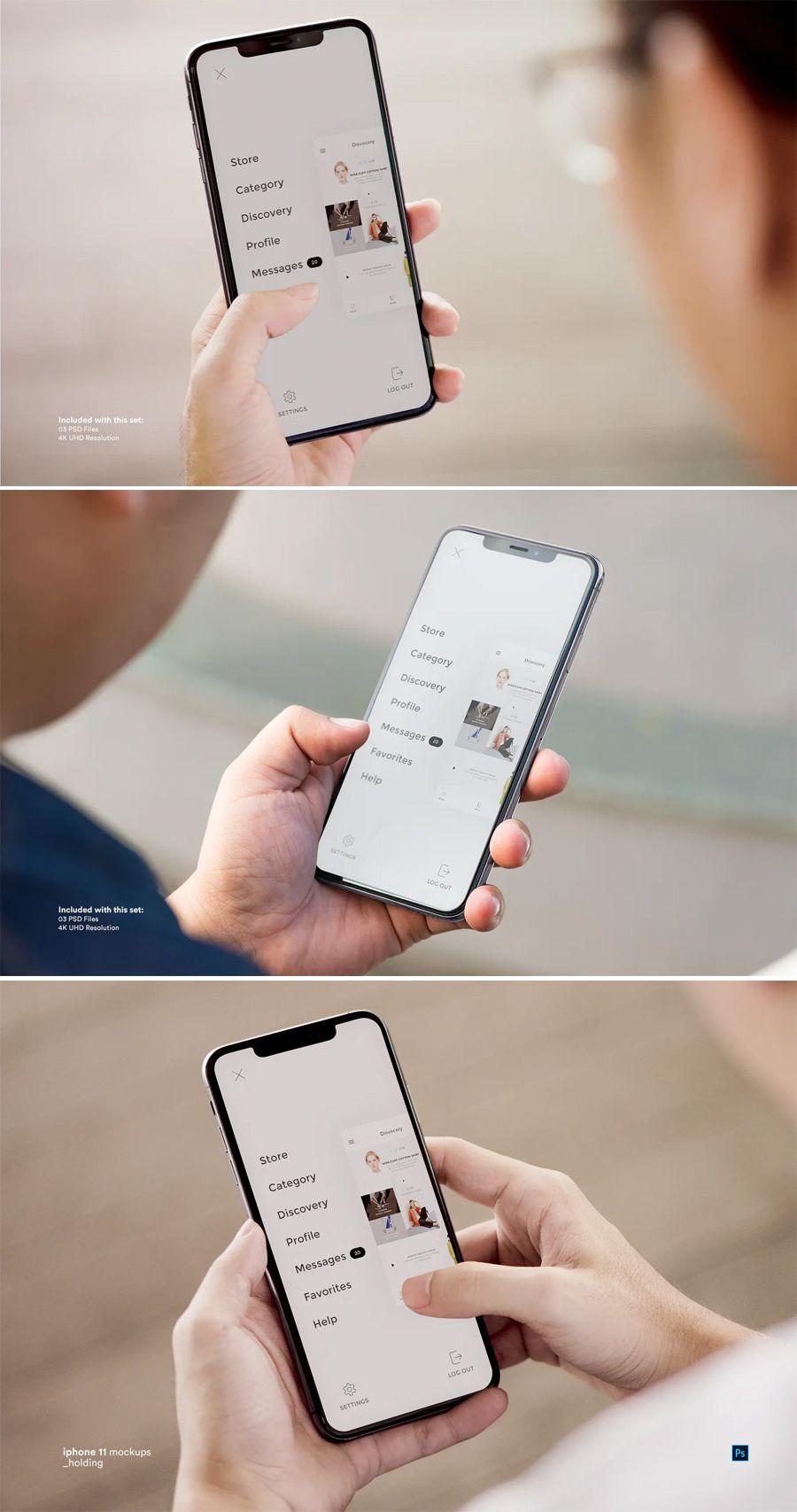 Iphone 11 Mockup Psd In 2020