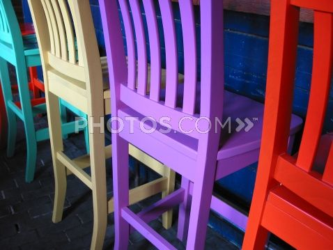 Royalty Free Images Colorful Barstools Chairs In A Mexican Restaurant In Bar Furniture Outdoor Bar Stools Art Chair