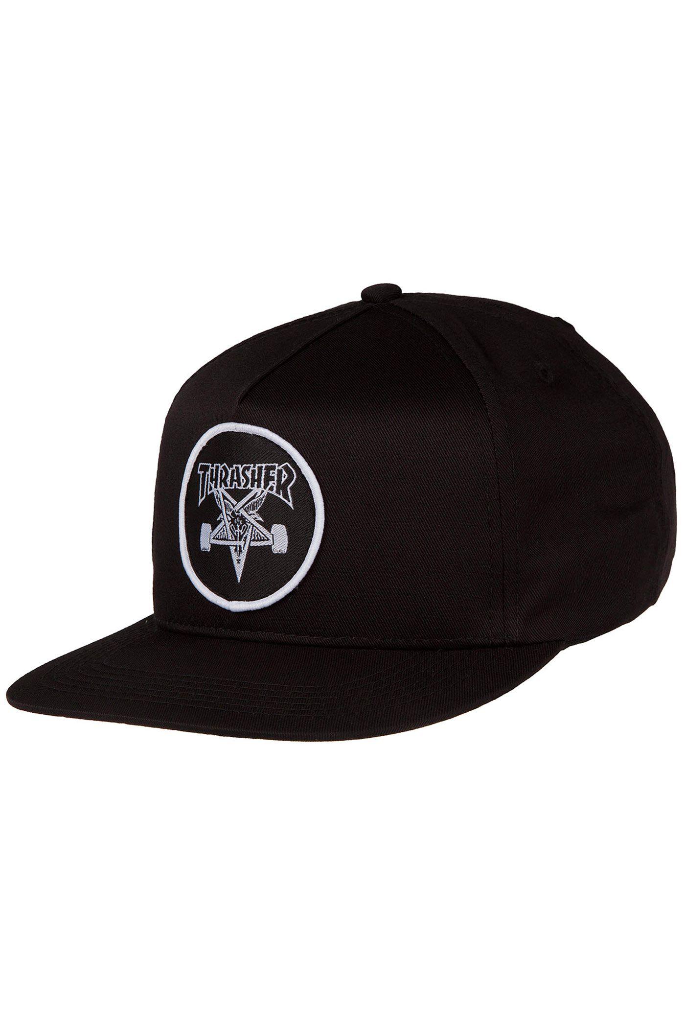2f44ad607fd Thrasher Skate Goat Snapback Cap (black)