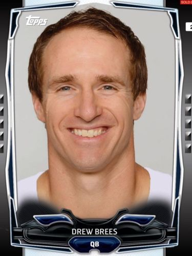 TOPPS-HUDDLE-BLACK-BOOST-DREW-BREES-NEW-ORLEANS-SAINTS-ONLY-350-EXIST