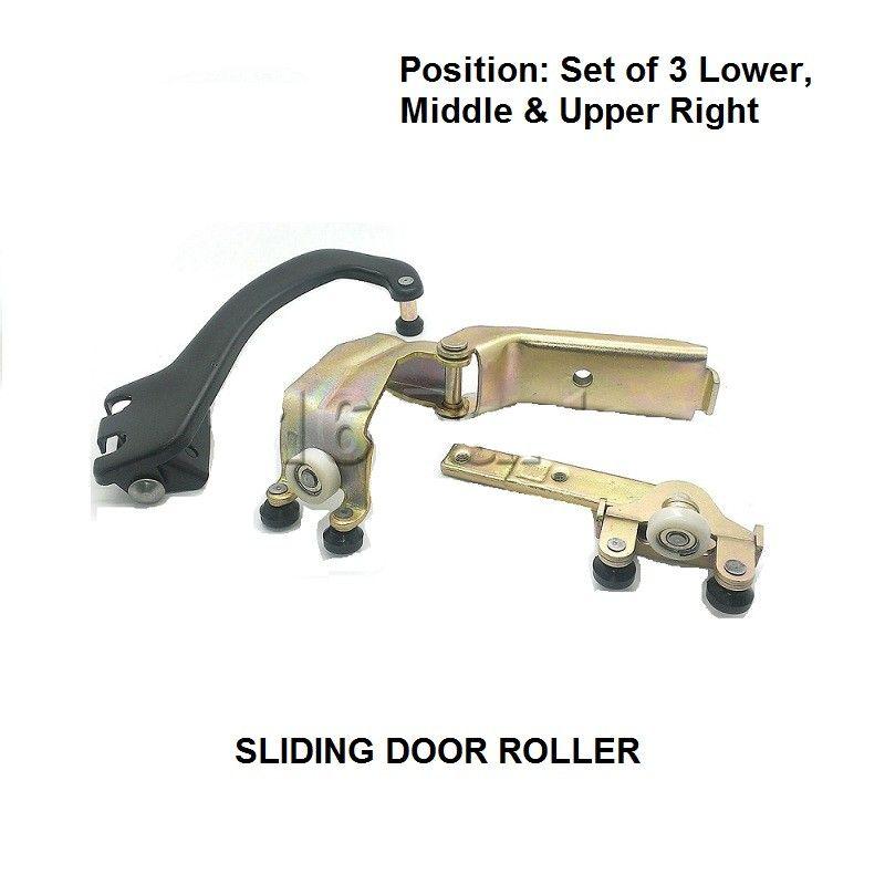 X3 Pieces For Mercedes Vito 1996 2003 Set Right Side Sliding Door Roller Full Units Sliding Door Rollers Viano Sliding Doors