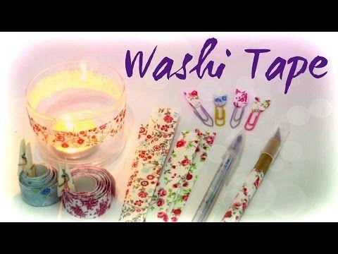 Como fazer Washi Tape [ Fita Adesiva de Tecido estilo Washi Tape ] - YouTube