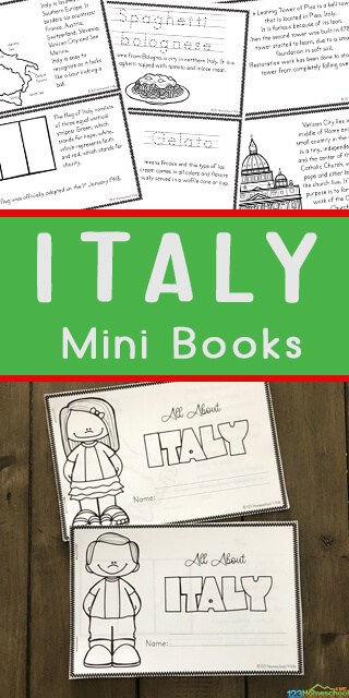FREE Italy for Kids Printable Book in 2020 Italy for