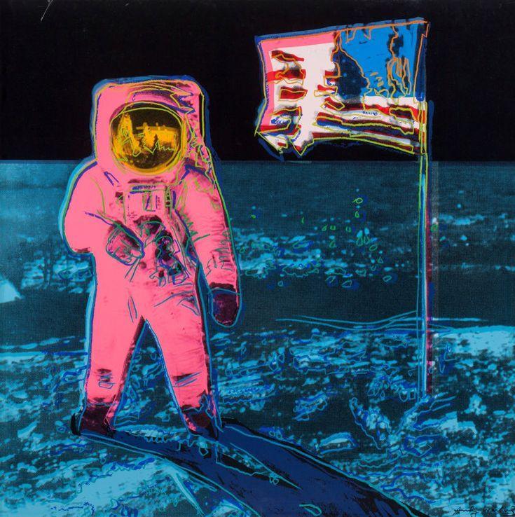 Moonwalk, by Andy Warhol, 1987. Screenprint in colour on Lenox Museum Board; 38 x 38 #andywarhol
