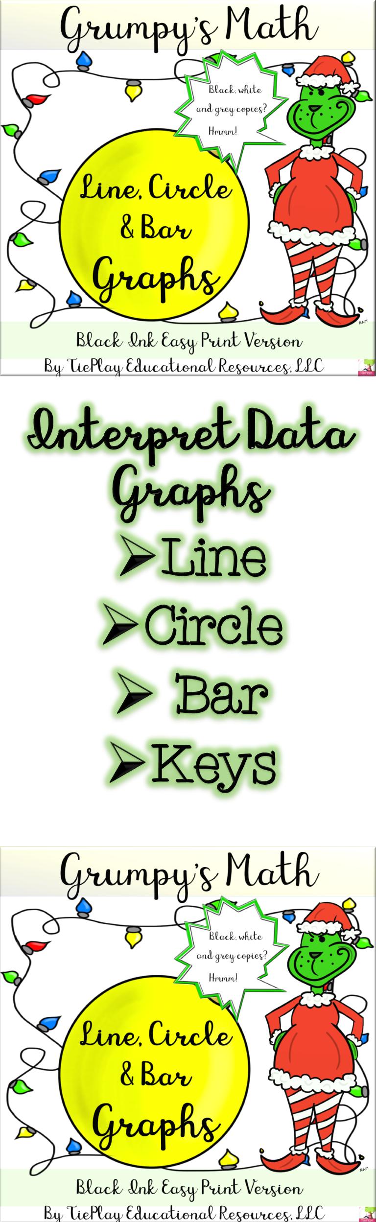 Christmas Lines Circles Bar Graphs Grumpy Math Worksheets Black White No Prep Bar Graphs Student Encouragement Teaching Lessons Plans [ 2496 x 768 Pixel ]