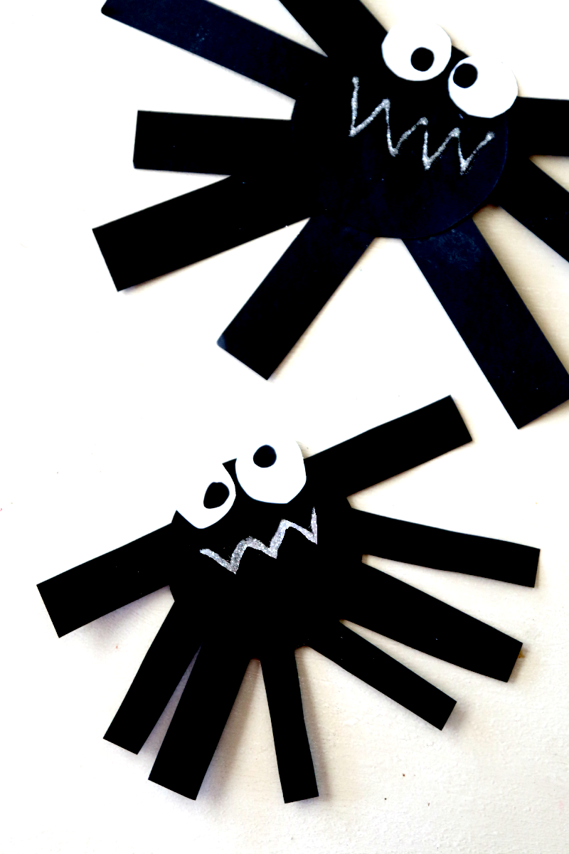 create paper spider perfect fun craft for preschool kids you can also hang up - Halloween Spider Craft Ideas