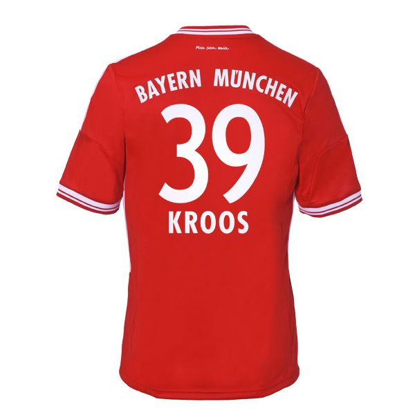 new products 4a174 86c8e 13-14 Bayern Munich #39 Kroos Home Soccer Jersey Shirt love ...